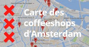 Carte des coffeeshops d'Amsterdam