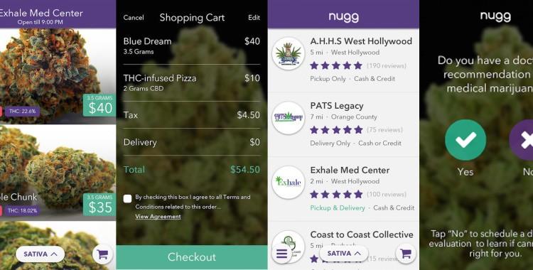 Nugg, l'appli pour commander du cannabis