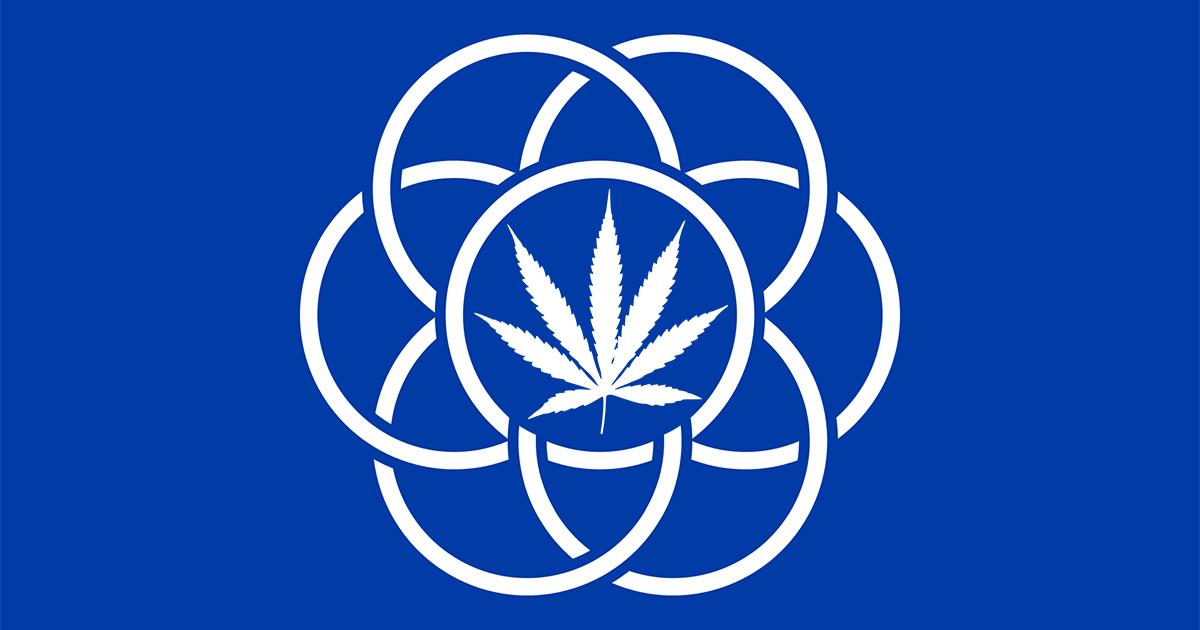 Drapeau de la Terre cannabis