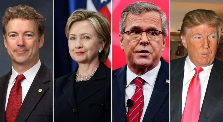 Candidats à l'élection américaine 2016