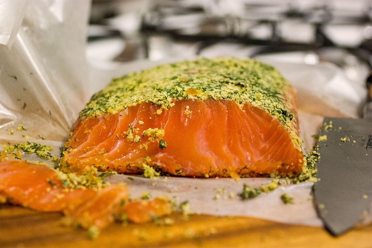 Gravlax de saumon au cannabis