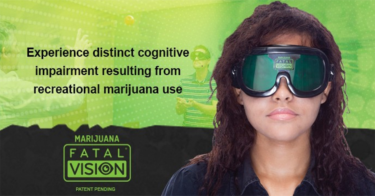 Lunettes de simulation des effets du cannabis