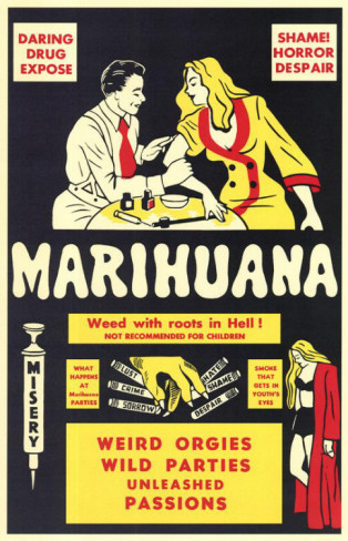 Cannabis affiche prohibition
