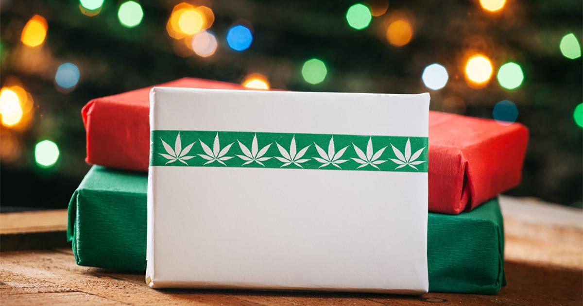 Cadeaux de Noël sur le thème du cannabis