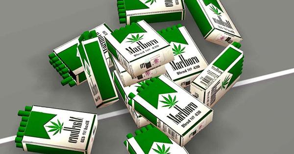 Cigarettes Marlboro au cannabis