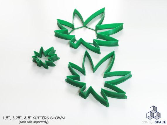 Moules à gateaux en feuilles de cannabis