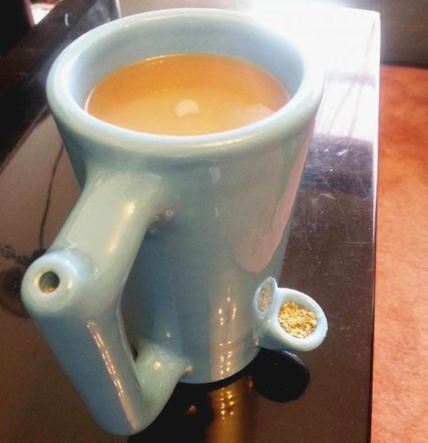 Mug pour fumer du cannabis