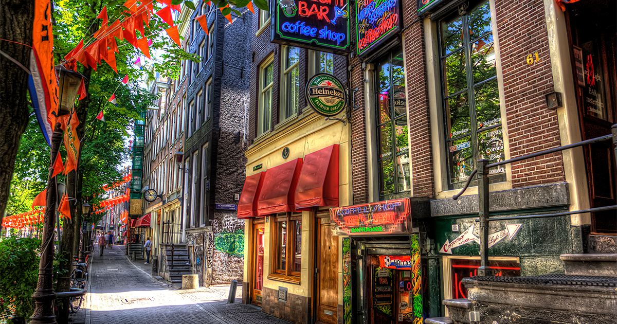 Origine des coffeeshops à Amsterdam