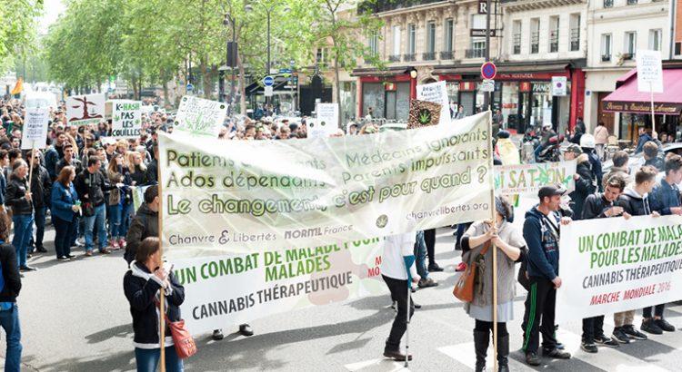 Marche mondiale du cannabis à Paris