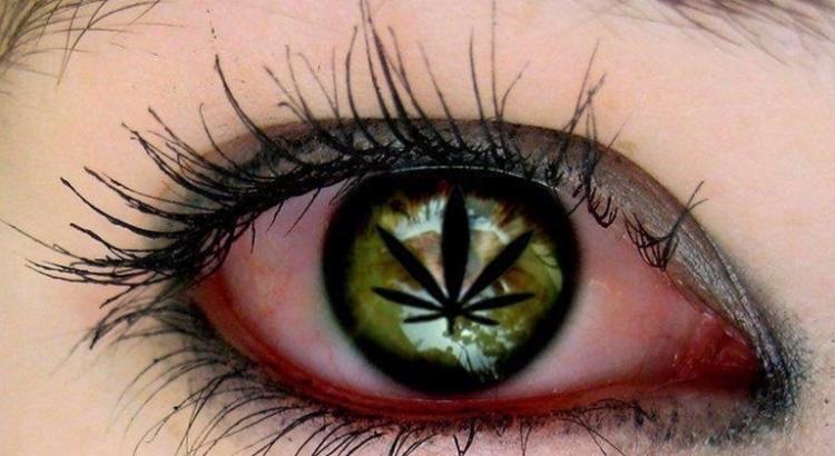 Yeux rouges dus au cannabis