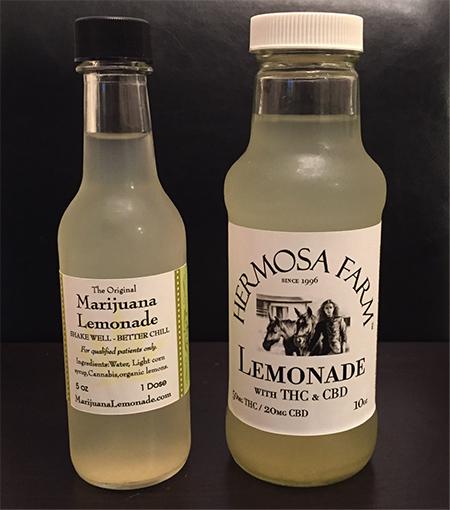 Limonade infusée au THC
