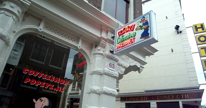 Coffeeshop Popeye à Amsterdam