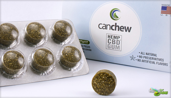 Chewing-gum cannabis