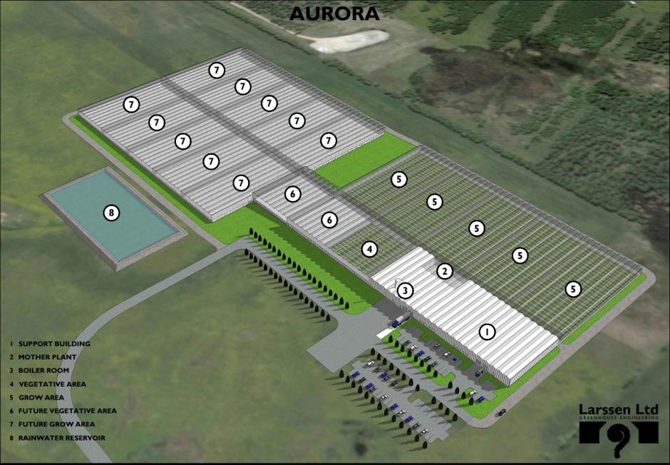 Plan de la future usine de cannabis