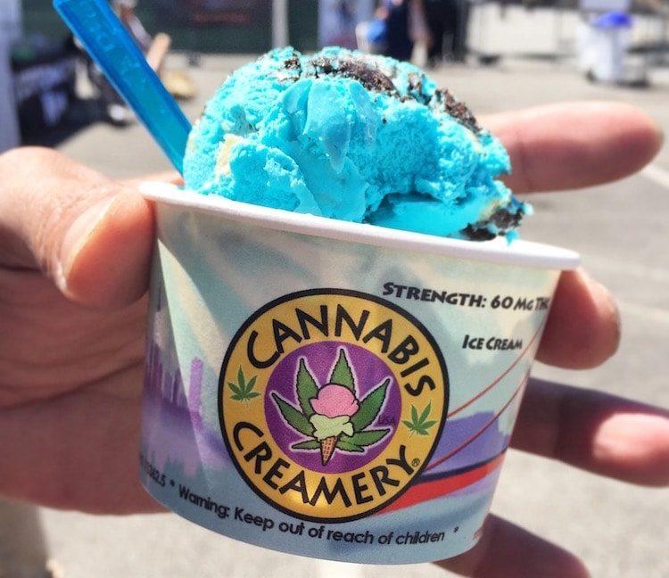 La glace au cannabis