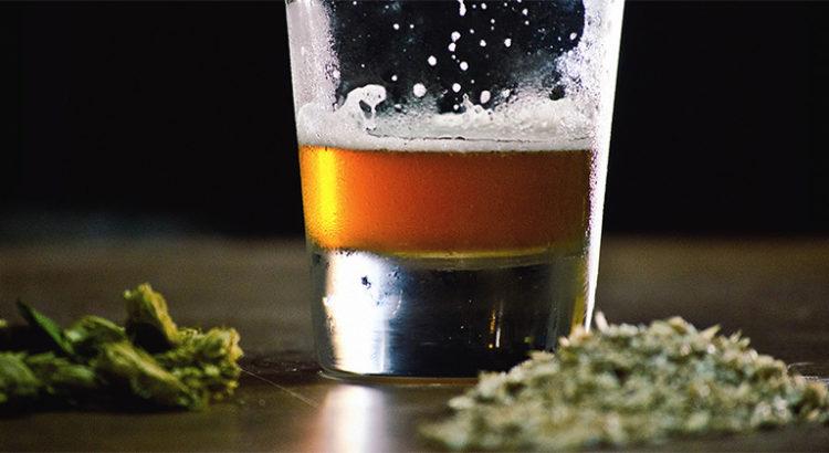 Bière et cannabis