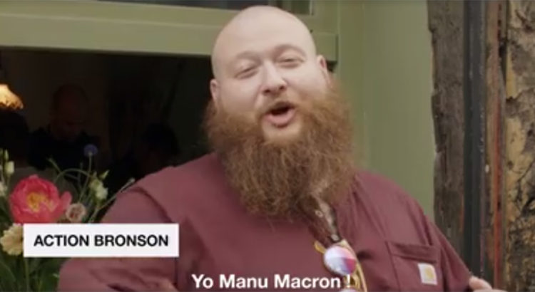 Action Bronson et Emmanuel Macron