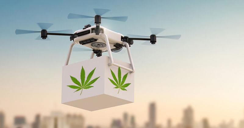 Livraison de weed par drone
