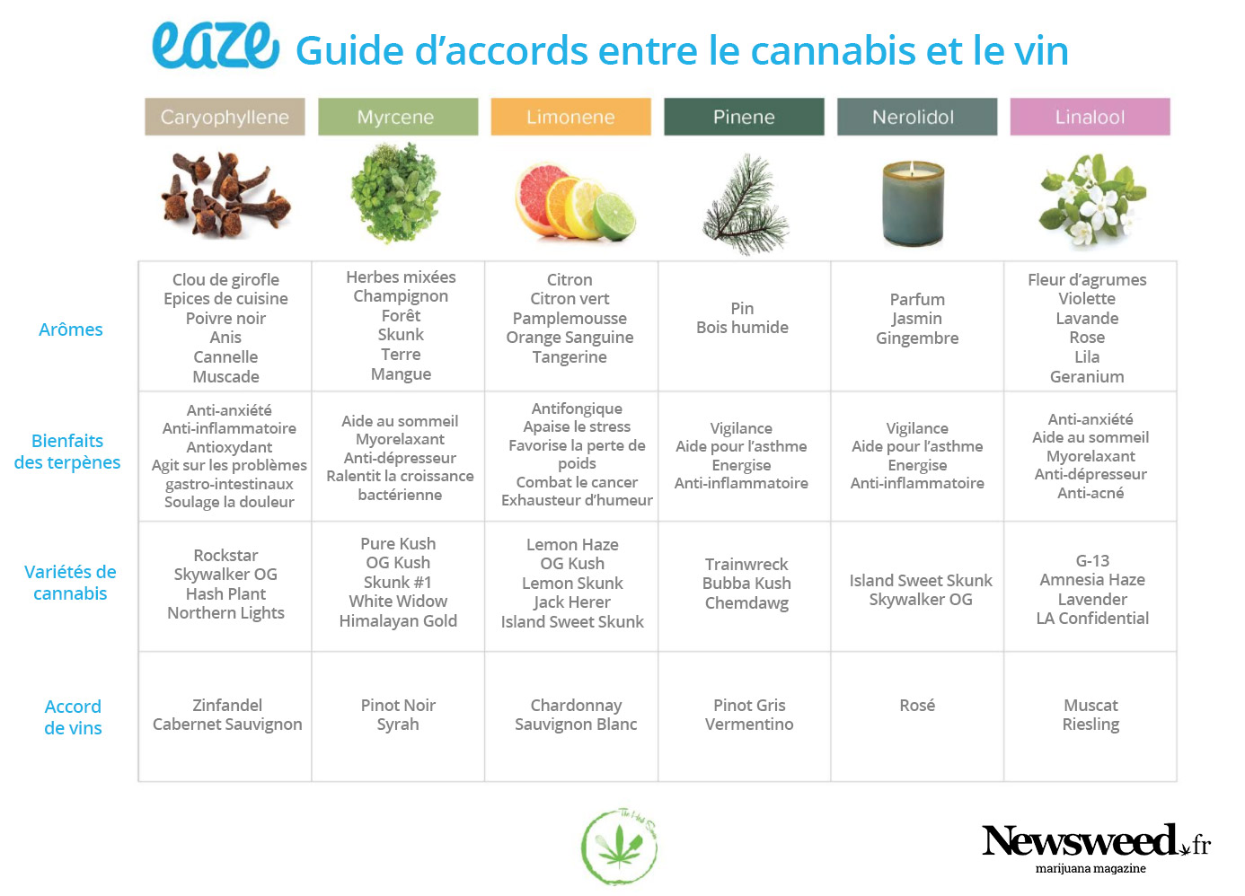 Accords cannabis et vin