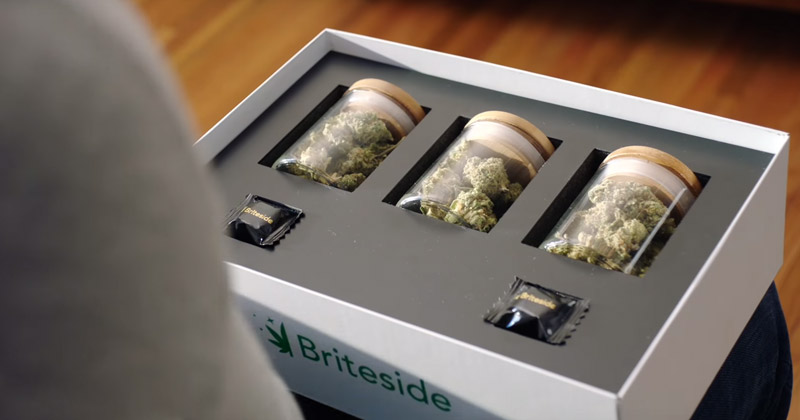Publicité Briteside pour du cannabis