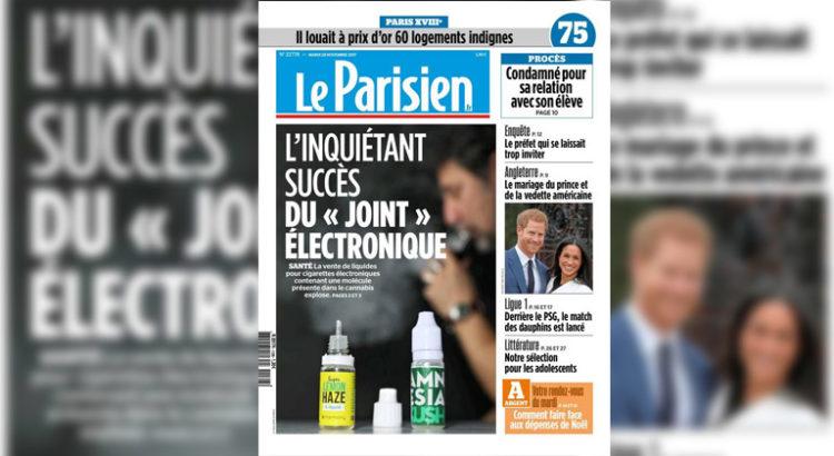 Une du Parisien sur le cannabis