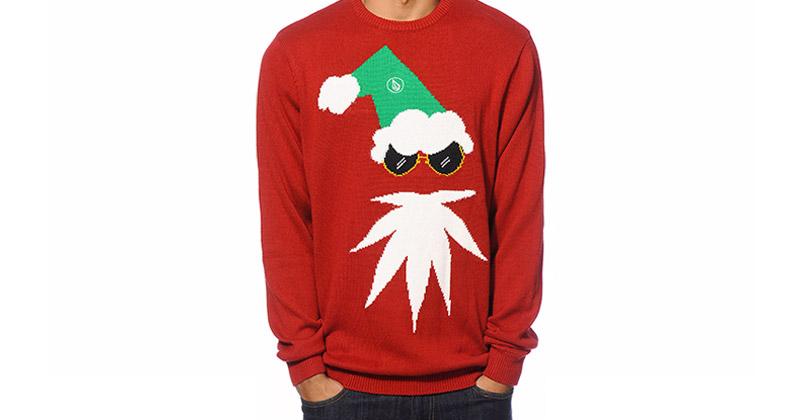 Pull moche de Noël à la weed