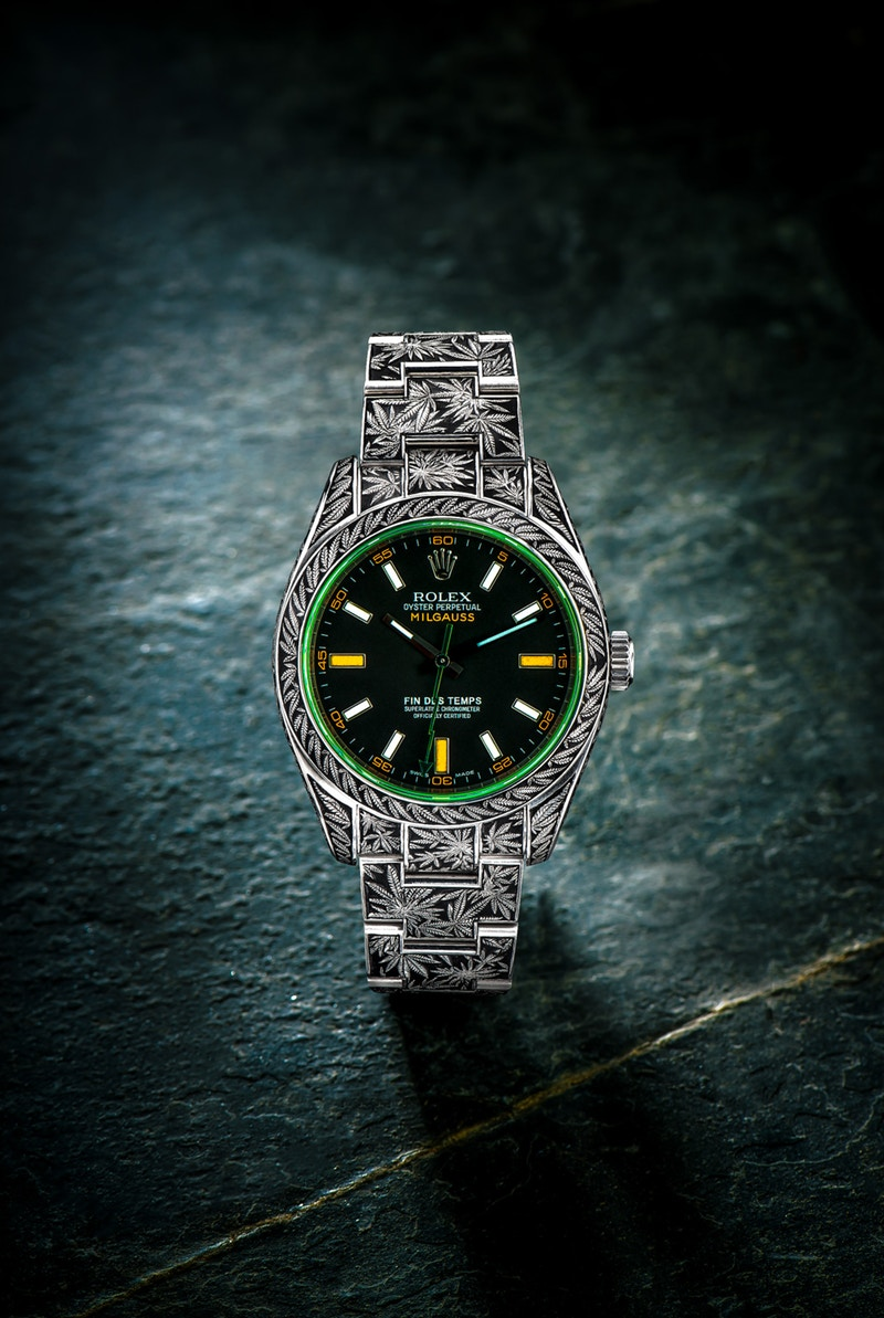 rolex oyster perpetual milgauss cannabis 1 newsweed. Black Bedroom Furniture Sets. Home Design Ideas