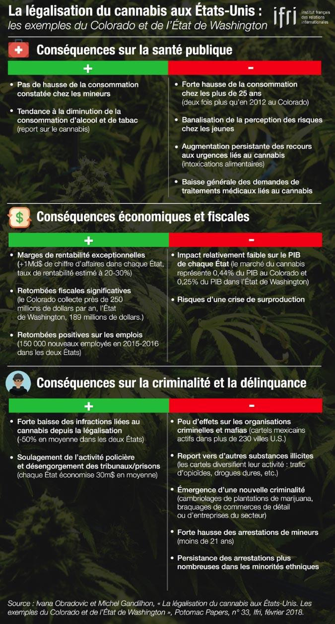Infographie sur le cannabis