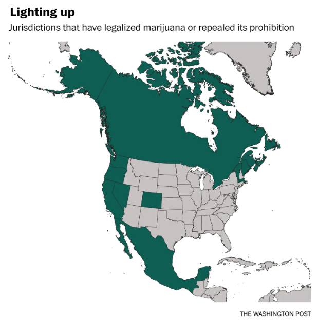 légalisation Amérique du Nord