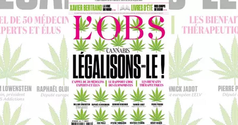 Nouvel Observateur et légalisation du cannabis
