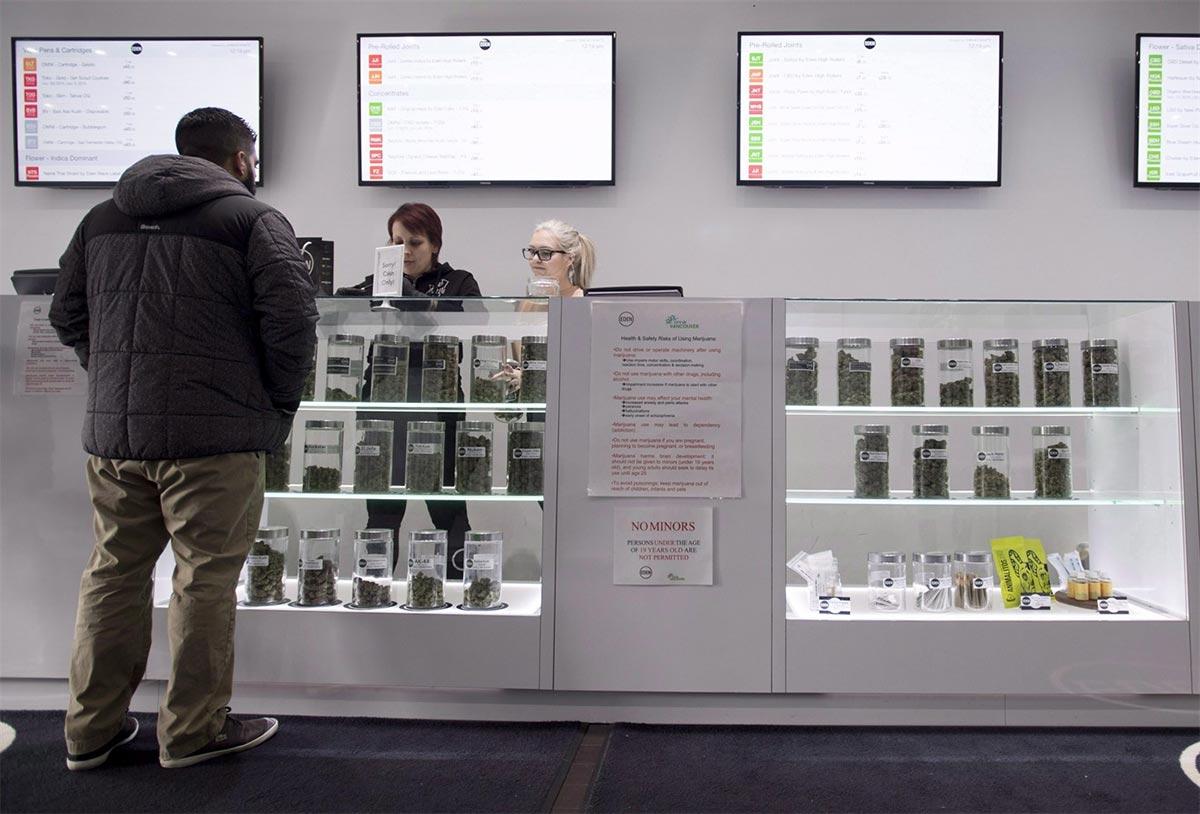 Magasin de cannabis en Ontario