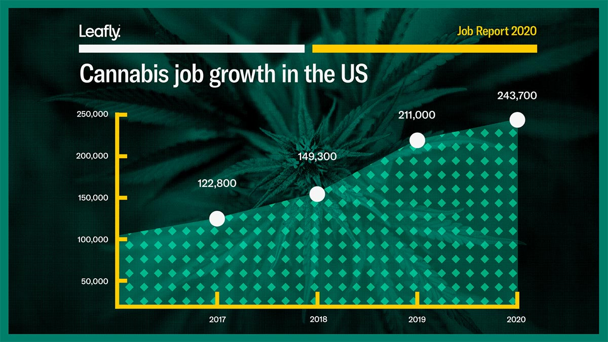 Growing cannabis jobs in the United States