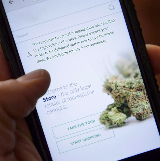 Vente en ligne de cannabis