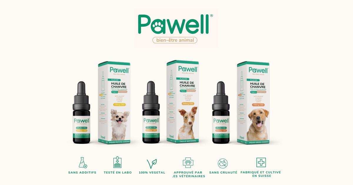 Pawell, du CBD animal