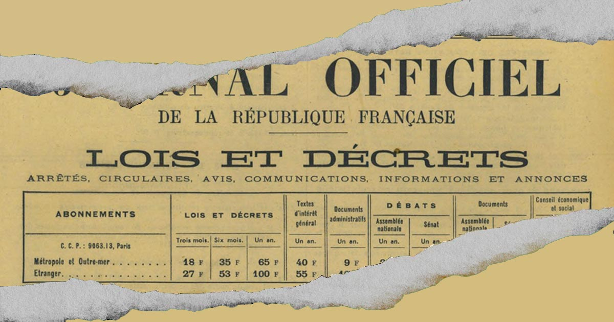 50 ans de prohibition en France