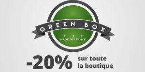 Soldes : -20% sur toute la boutique Green Box